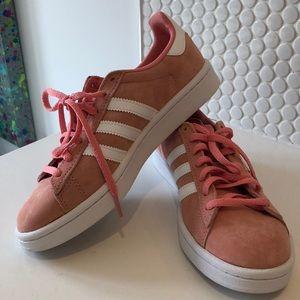 Adidas pink Campus sneakers